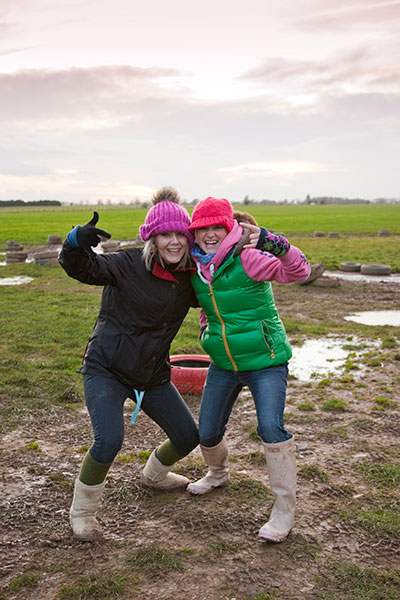 Enjoy the free mud packs!