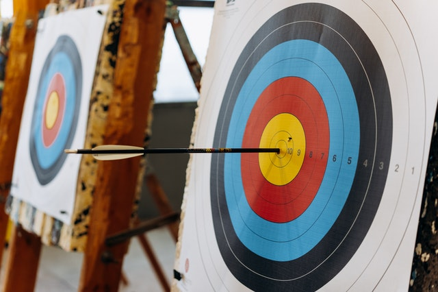 Common Archery Issues; an arrow hit right at the centre of the archery target