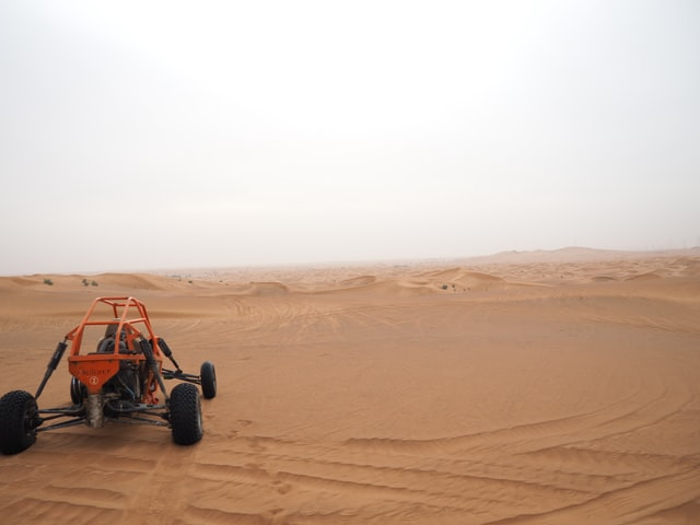 a youth ATV in a desert